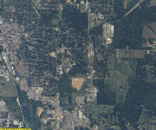 Alcorn County, Mississippi aerial photography