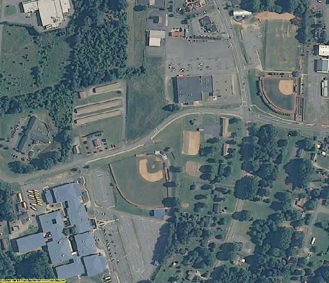 Alexander County, North Carolina aerial photography
