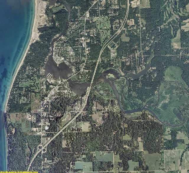 Allegan County, Michigan aerial photography
