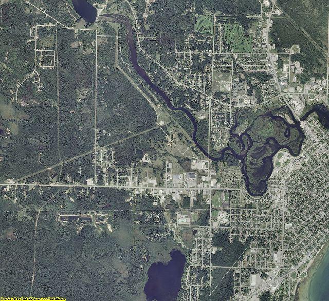 Alpena County, Michigan aerial photography