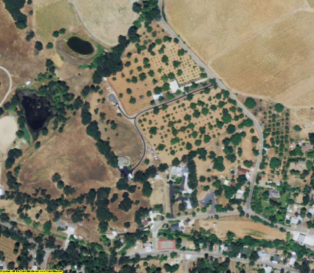 Amador County, CA aerial photography detail