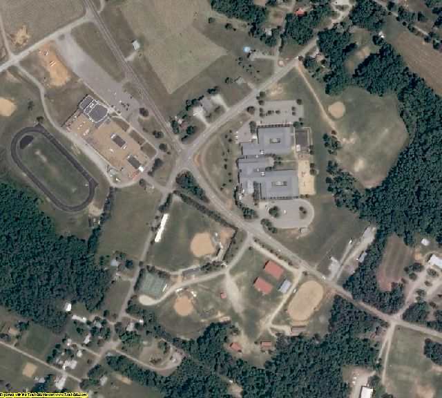Amelia County, VA aerial photography detail