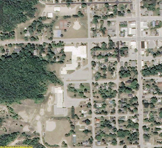 Antrim County, MI aerial photography detail