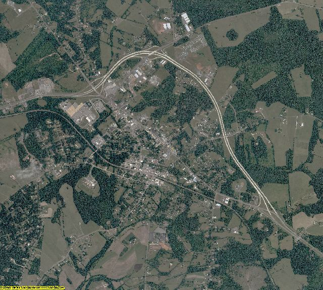 Appomattox County, Virginia aerial photography