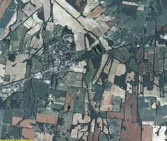 Ballard County, Kentucky aerial photography