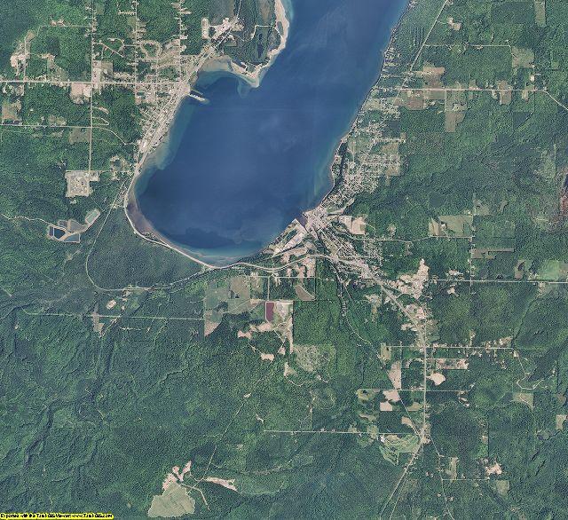 Baraga County, Michigan aerial photography