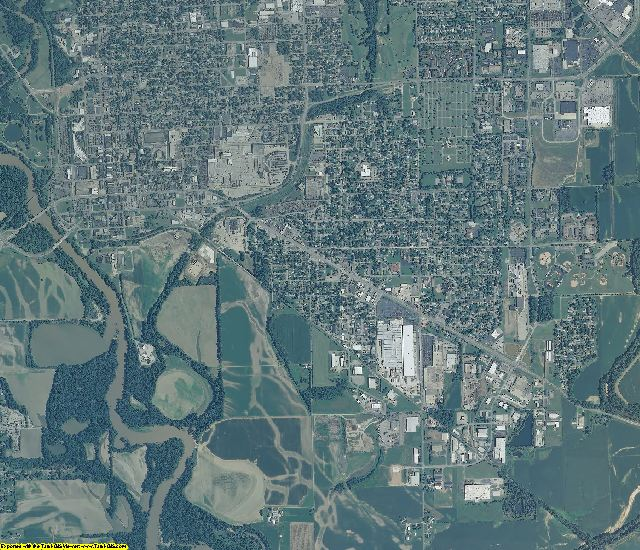Bartholomew County, Indiana aerial photography