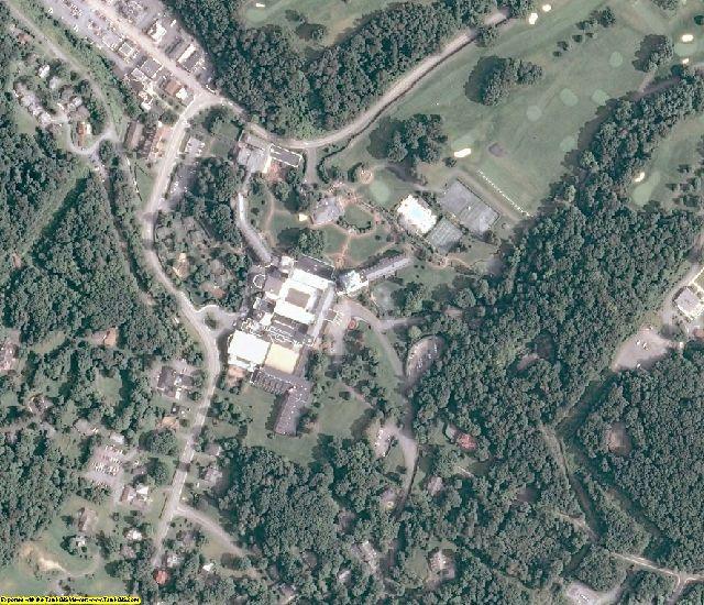 Bath County, VA aerial photography detail