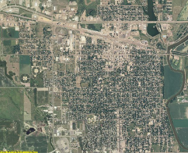 Beadle County, South Dakota aerial photography