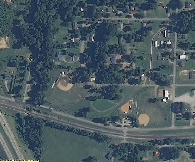 Benton County, MS aerial photography detail