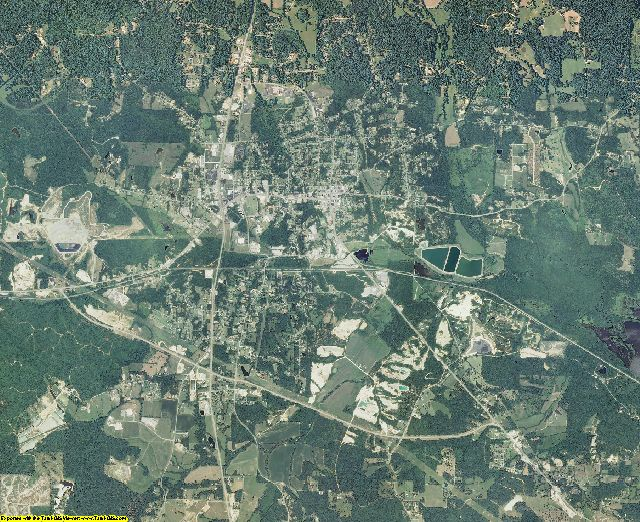 Benton County, Tennessee aerial photography