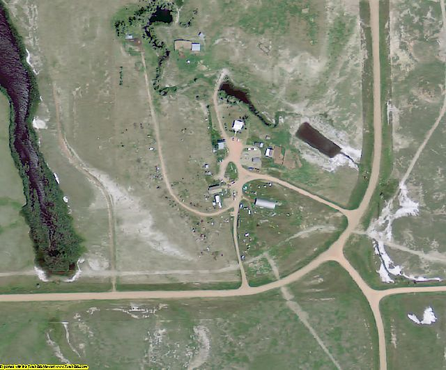 Billings County, ND aerial photography detail