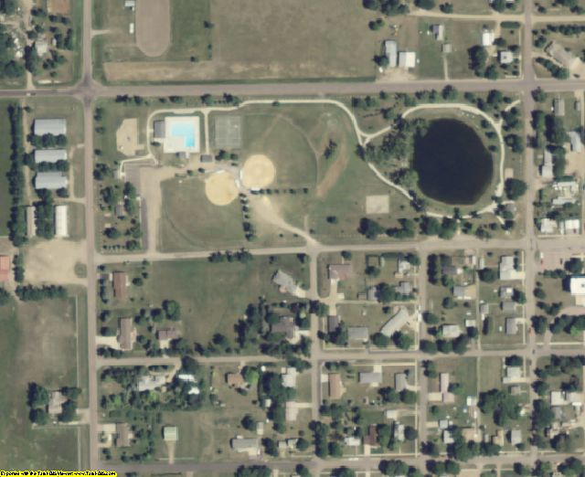 Bon Homme County, SD aerial photography detail