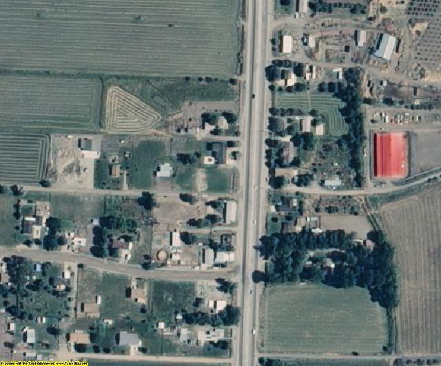 Box Elder County, UT aerial photography detail