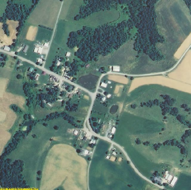 Bracken County, KY aerial photography detail