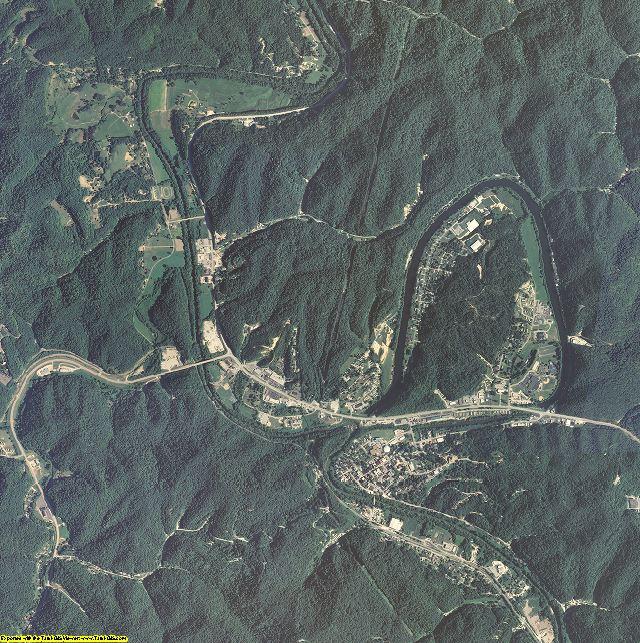 Breathitt County, Kentucky aerial photography