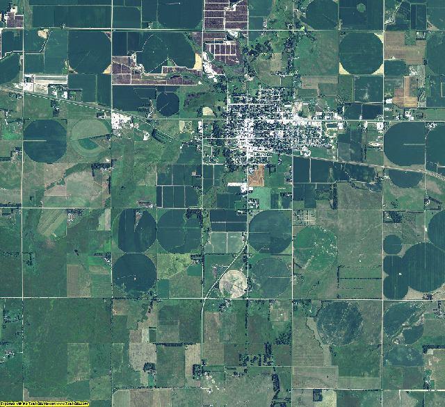 Brown County, Nebraska aerial photography