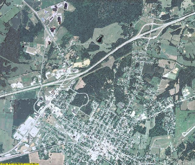 Caldwell County, Kentucky aerial photography