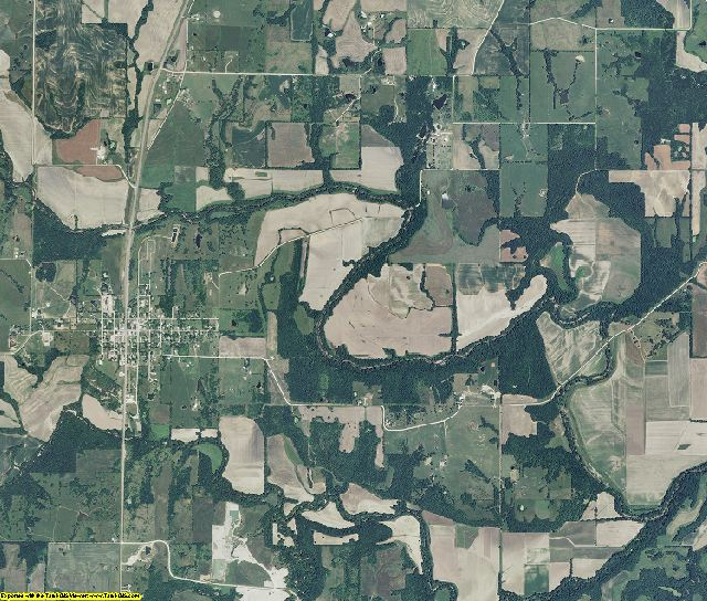 Caldwell County, Missouri aerial photography