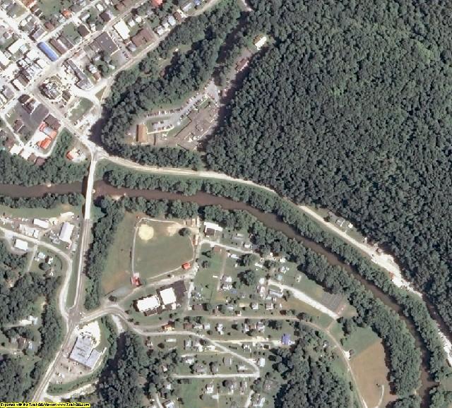 Calhoun County, WV aerial photography detail