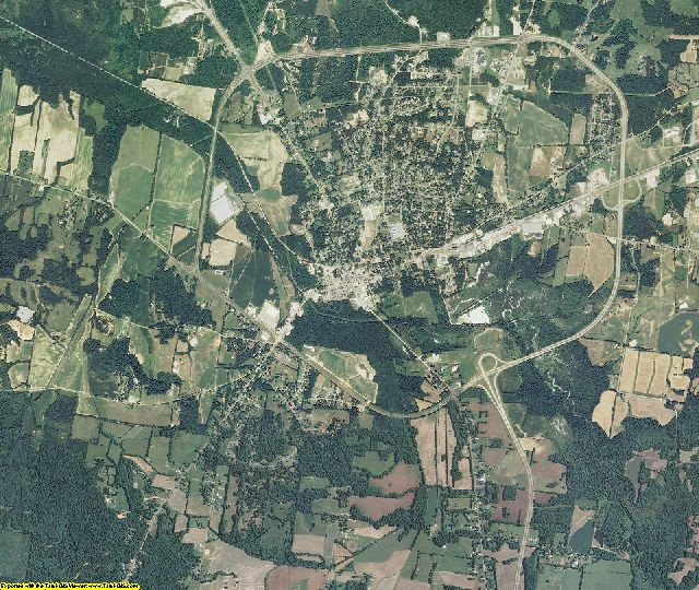 Carroll County, Tennessee aerial photography