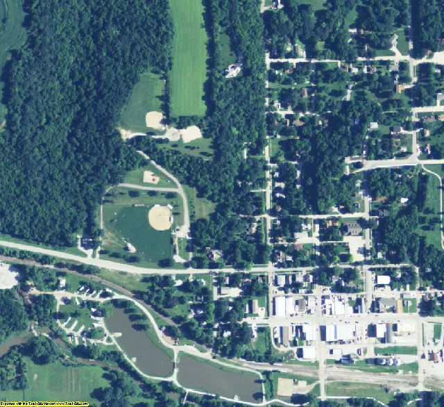 Cass County, NE aerial photography detail