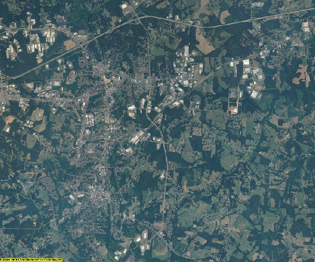 Catawba County, North Carolina aerial photography