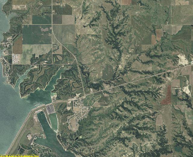 Charles Mix County, South Dakota aerial photography