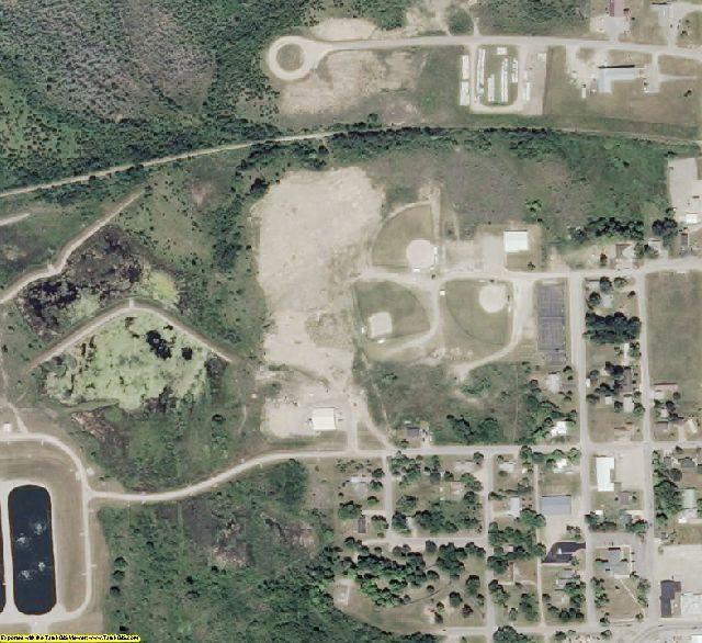 Cheboygan County, MI aerial photography detail