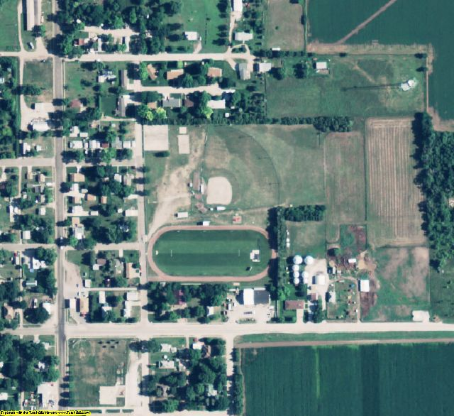 Clay County, NE aerial photography detail