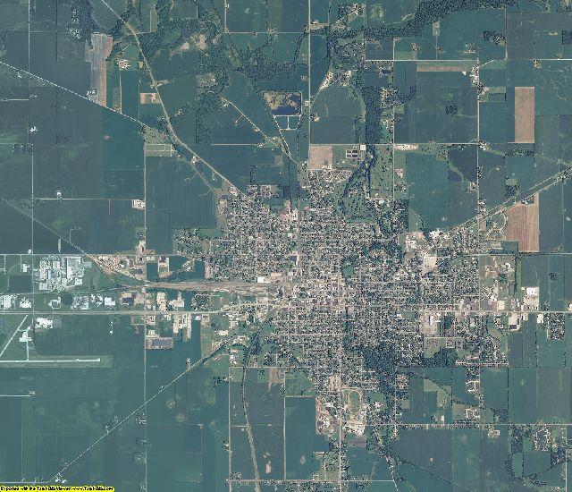 Clinton County, Indiana aerial photography
