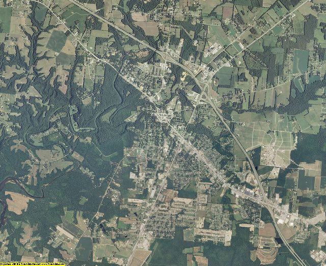 Coffee County, Tennessee aerial photography