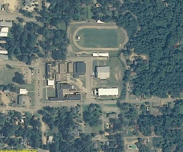 Copiah County, MS aerial photography detail