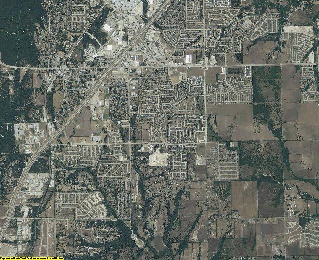 Dallas County, Texas aerial photography