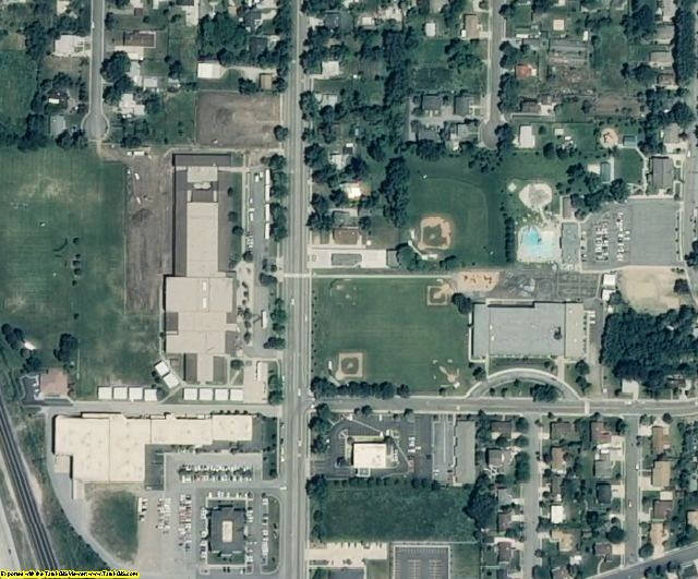 Davis County, UT aerial photography detail
