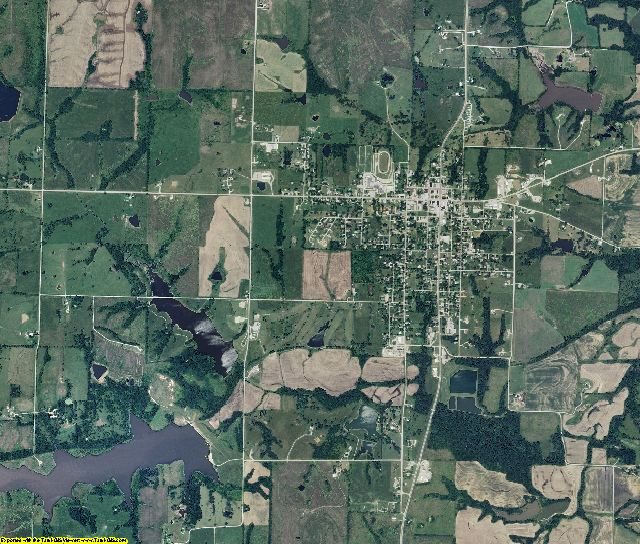 DeKalb County, Missouri aerial photography