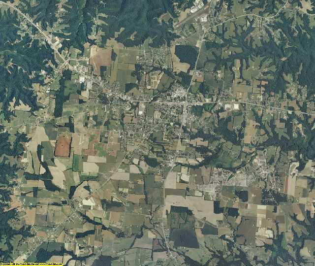 DeKalb County, Tennessee aerial photography