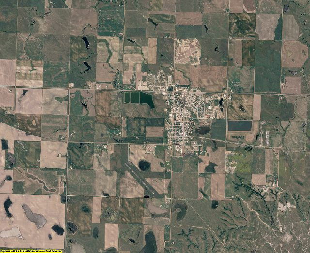 Dewey County, South Dakota aerial photography