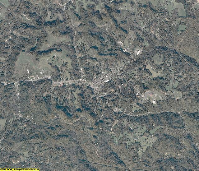 Dickenson County, Virginia aerial photography