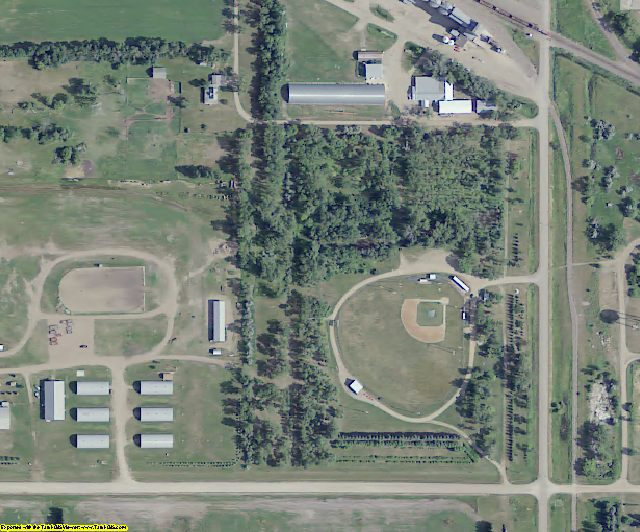 Eddy County, ND aerial photography detail