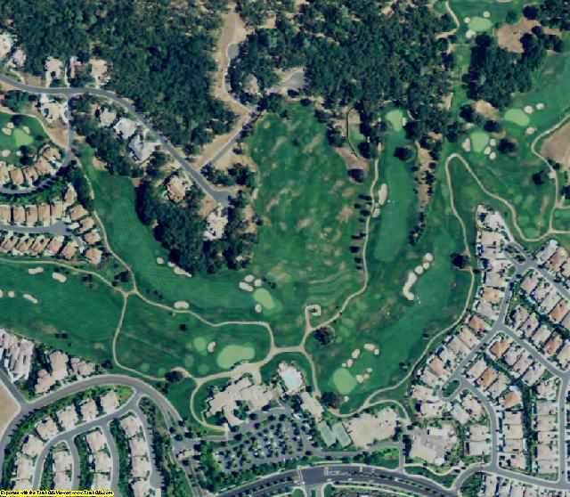 El Dorado County, CA aerial photography detail
