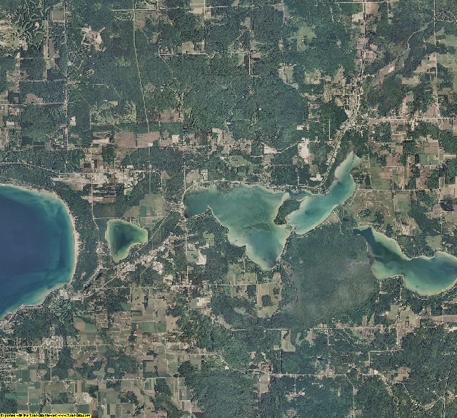 Emmet County, Michigan aerial photography