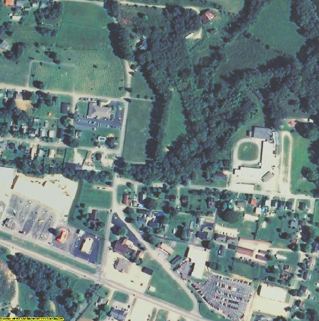 Estill County, KY aerial photography detail