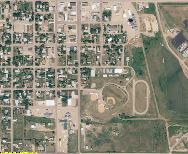 Faulk County, SD aerial photography detail