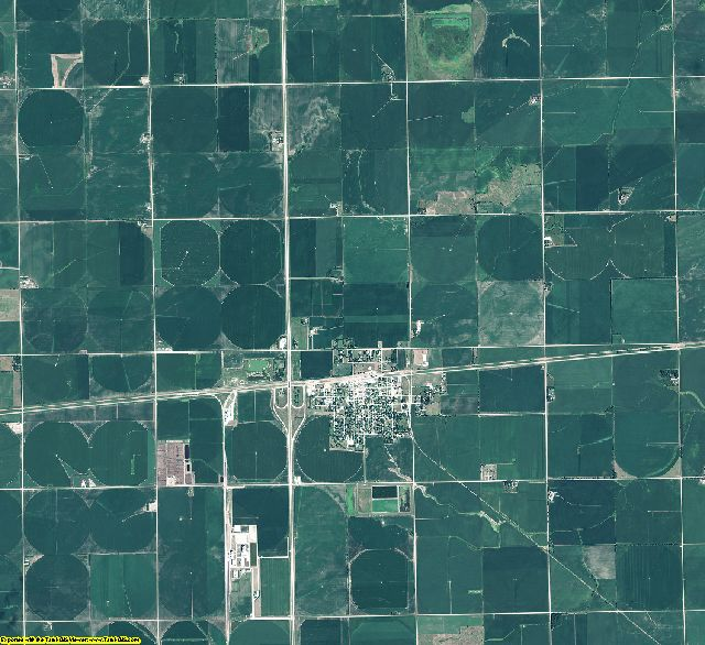 Fillmore County, Nebraska aerial photography