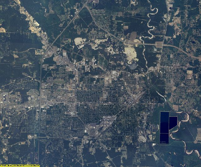 Forrest County, Mississippi aerial photography