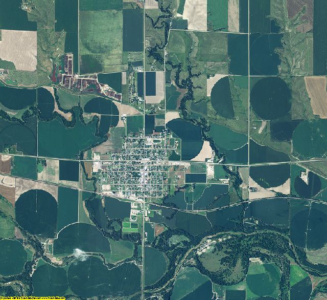 Furnas County, Nebraska aerial photography