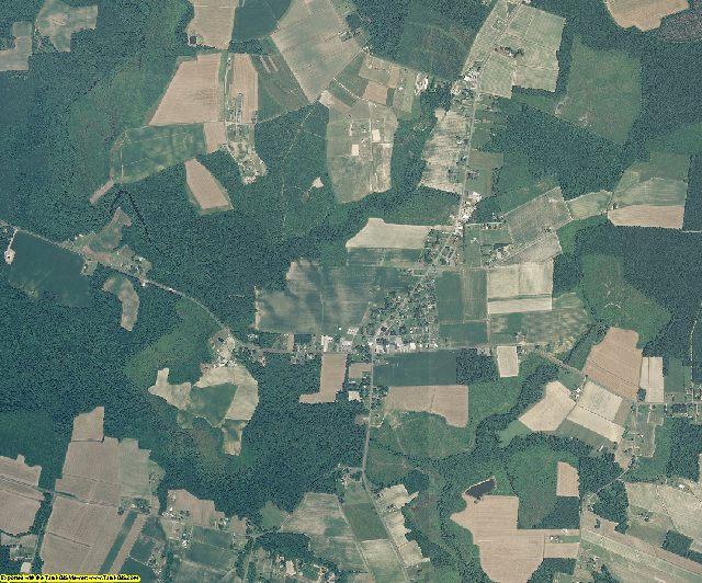 Gates County, North Carolina aerial photography