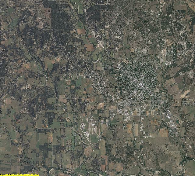 Gillespie County, Texas aerial photography