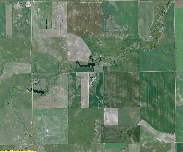 Golden Valley County, North Dakota aerial photography